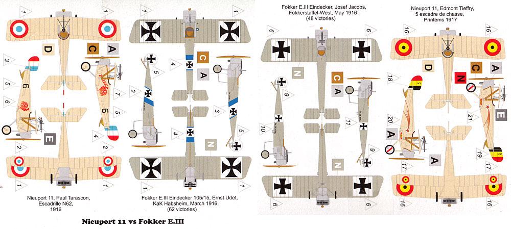 ニューポール 11 vs フォッカー E.3 アインデッカープラモデル(バロムモデル1/144 エアクラフトNo.14420)商品画像_1