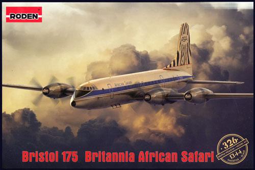 ブリストル 175 ブリタニア アフリカン サファリプラモデル(ローデン1/144 エアクラフトNo.326)商品画像