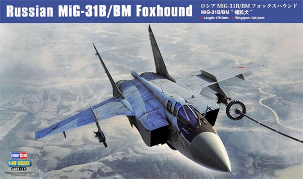 ロシア MiG-31B/BM フォックスハウンドプラモデル(ホビーボス1/48 エアクラフト プラモデルNo.81754)商品画像