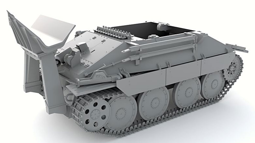 ドイツ ベルゲヘッツァー 戦車回収車 後期型 (リミテッドエディション)プラモデル(サンダーモデルプラスチックモデルキットNo.35100)商品画像_4