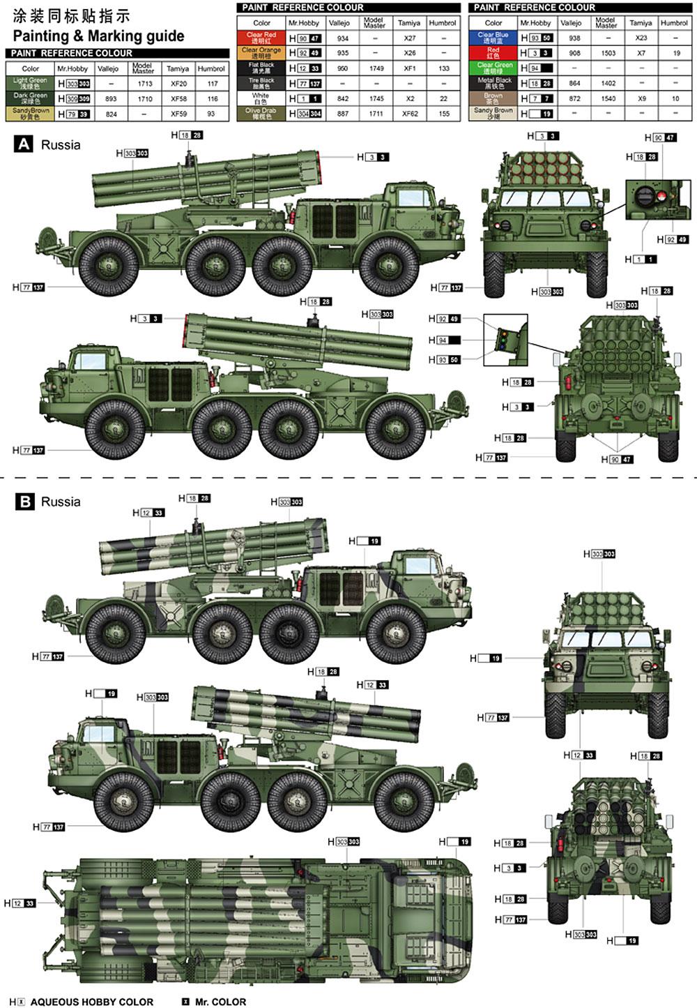 ロシア BM-27 多連装ロケットランチャー ウラガンプラモデル(トランペッター1/35 AFVシリーズNo.01026)商品画像_2