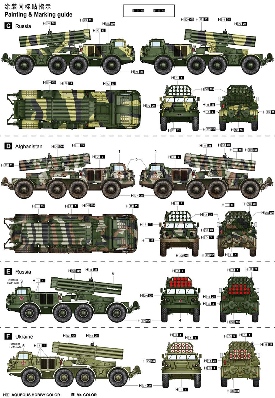 ロシア BM-27 多連装ロケットランチャー ウラガンプラモデル(トランペッター1/35 AFVシリーズNo.01026)商品画像_3