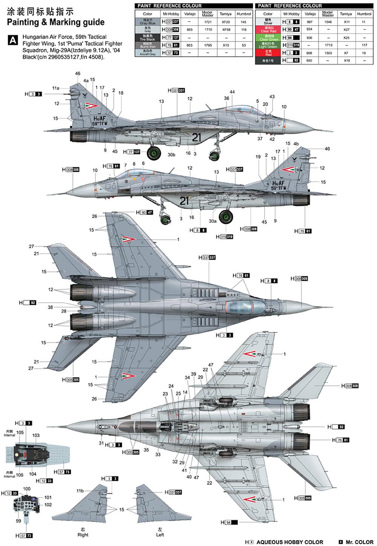 MiG-29A ファルクラムA型プラモデル(トランペッター1/32 エアクラフトシリーズNo.03223)商品画像_2