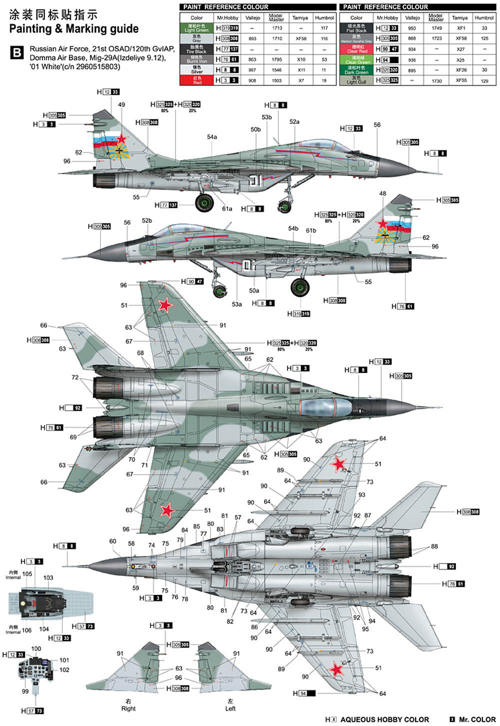 MiG-29A ファルクラムA型プラモデル(トランペッター1/32 エアクラフトシリーズNo.03223)商品画像_3