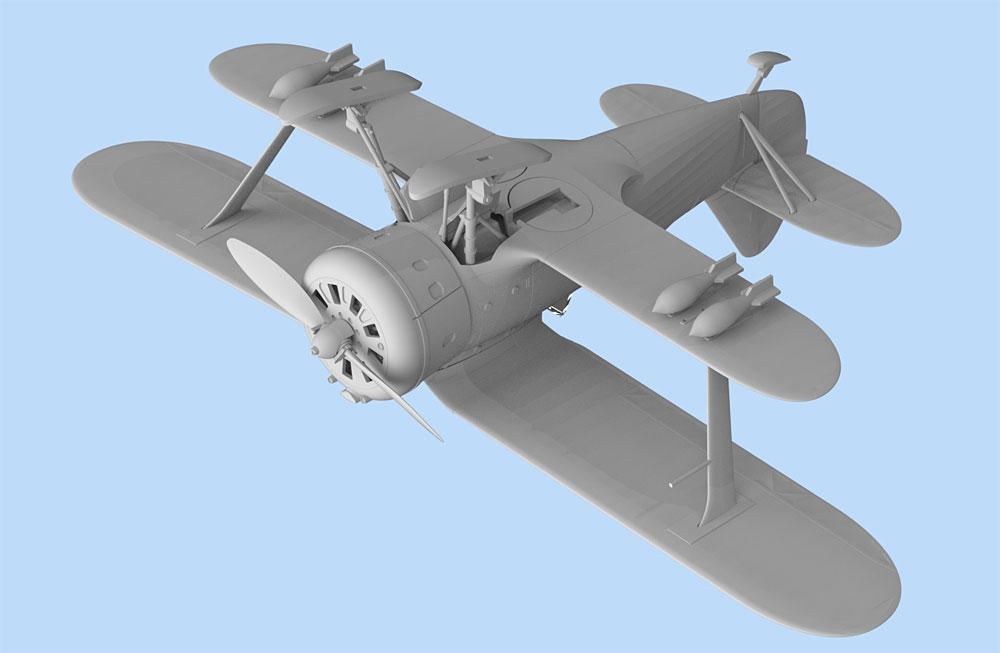 ポリカルポフ I-153 チャイカ 冬季仕様プラモデル(ICM1/72 エアクラフト プラモデルNo.72075)商品画像_4