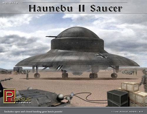 WW2 ドイツ 秘密兵器 ハウニブ 2 フライングソーサープラモデル(ペガサスホビープラスチックモデルキットNo.9119)商品画像