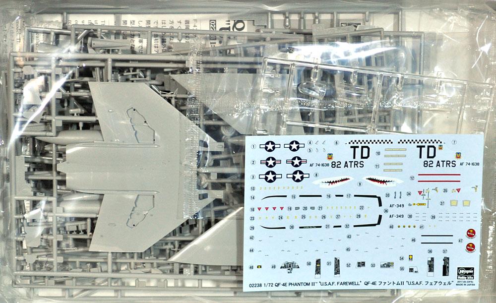QF-4E ファントム 2 U.S.A.F. フェアウェルプラモデル(ハセガワ1/72 飛行機 限定生産No.02238)商品画像_1