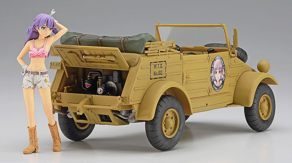 ワイルドたまごガールズ No.02 Pkw.K1 キューベルワーゲン 82型 クレア フロスト w/フィギュアプラモデル(ハセガワ1/24 自動車 限定生産No.SP360)商品画像_2