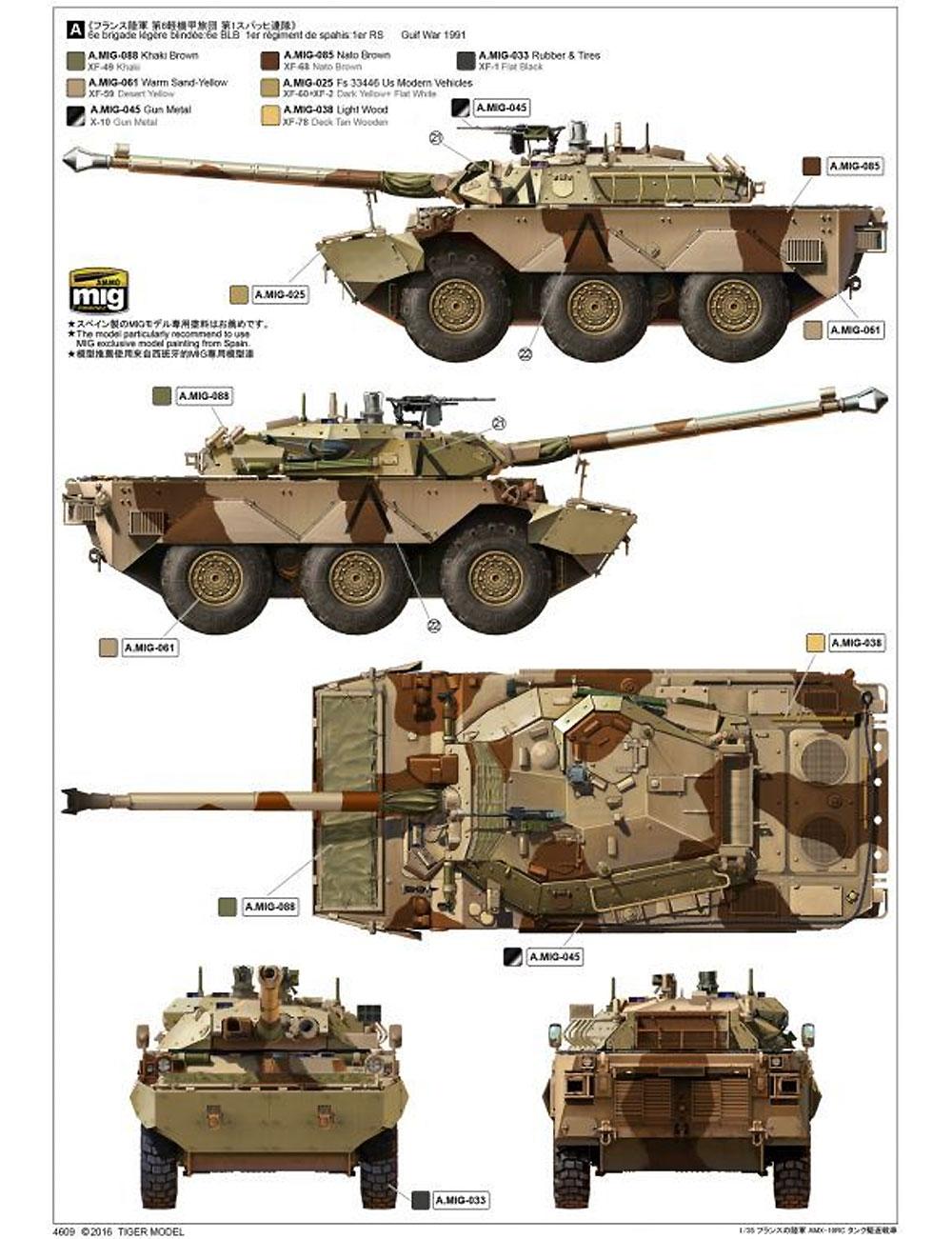 フランス陸軍 AMX-10RC 装輪装甲車プラモデル(タイガーモデル1/35 AFVNo.4609)商品画像_2