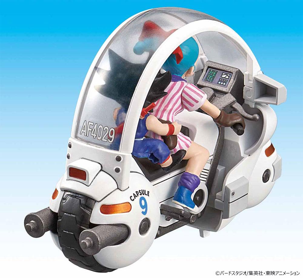 ブルマのカプセルNo.9バイクプラモデル(バンダイメカコレクション ドラゴンボールNo.001)商品画像_4