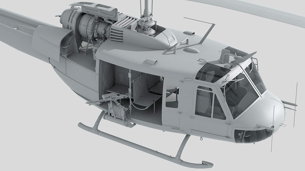 UH-1D ヒューイプラモデル(キティホーク1/48 ミリタリーNo.KH80154)商品画像_2