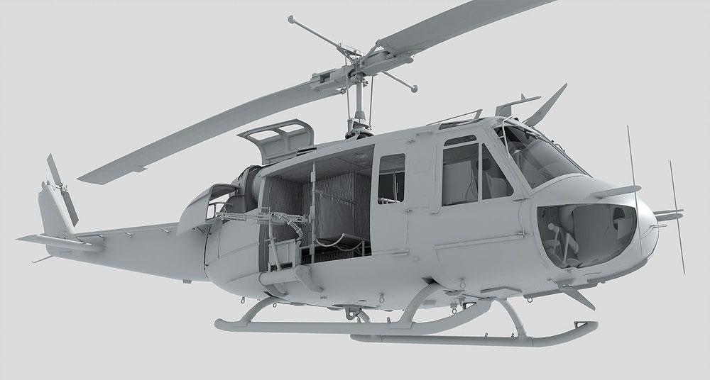UH-1D ヒューイプラモデル(キティホーク1/48 ミリタリーNo.KH80154)商品画像_3