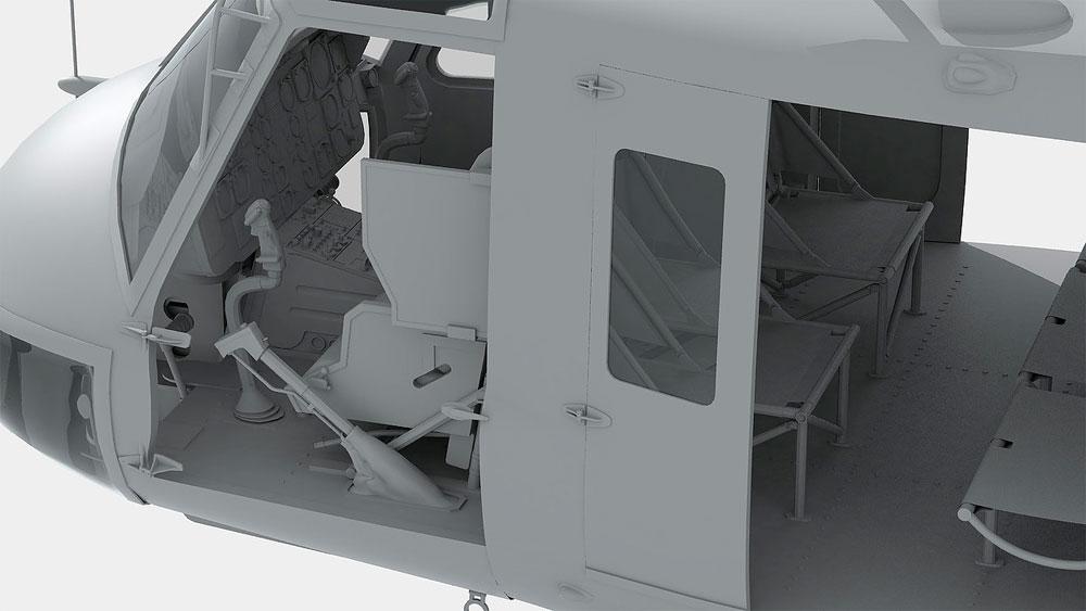 UH-1D ヒューイプラモデル(キティホーク1/48 ミリタリーNo.KH80154)商品画像_4