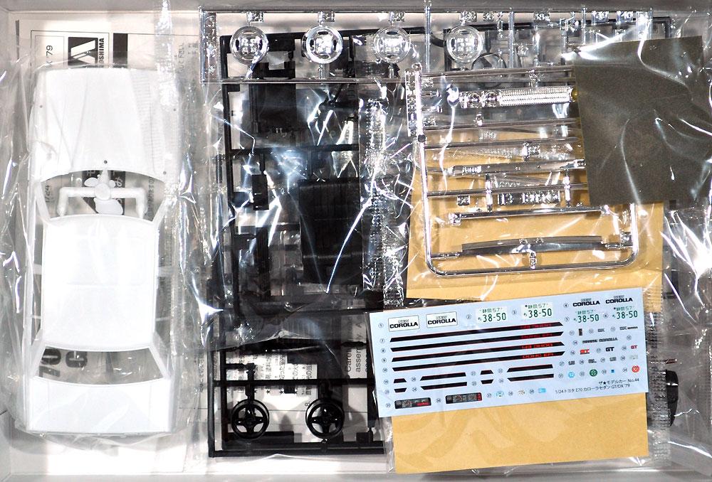 トヨタ E70 カローラセダン GT/DX '79プラモデル(アオシマ1/24 ザ・モデルカーNo.044)商品画像_1