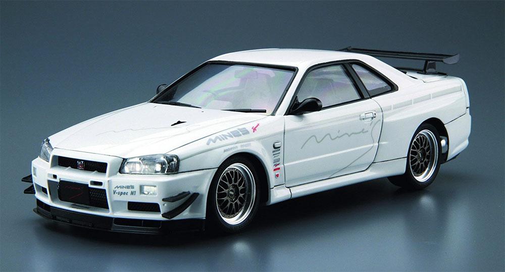 マインズ BNR34 スカイライン GT-R '02 (ニッサン)プラモデル(アオシマ1/24 ザ・チューンドカーNo.034)商品画像_2
