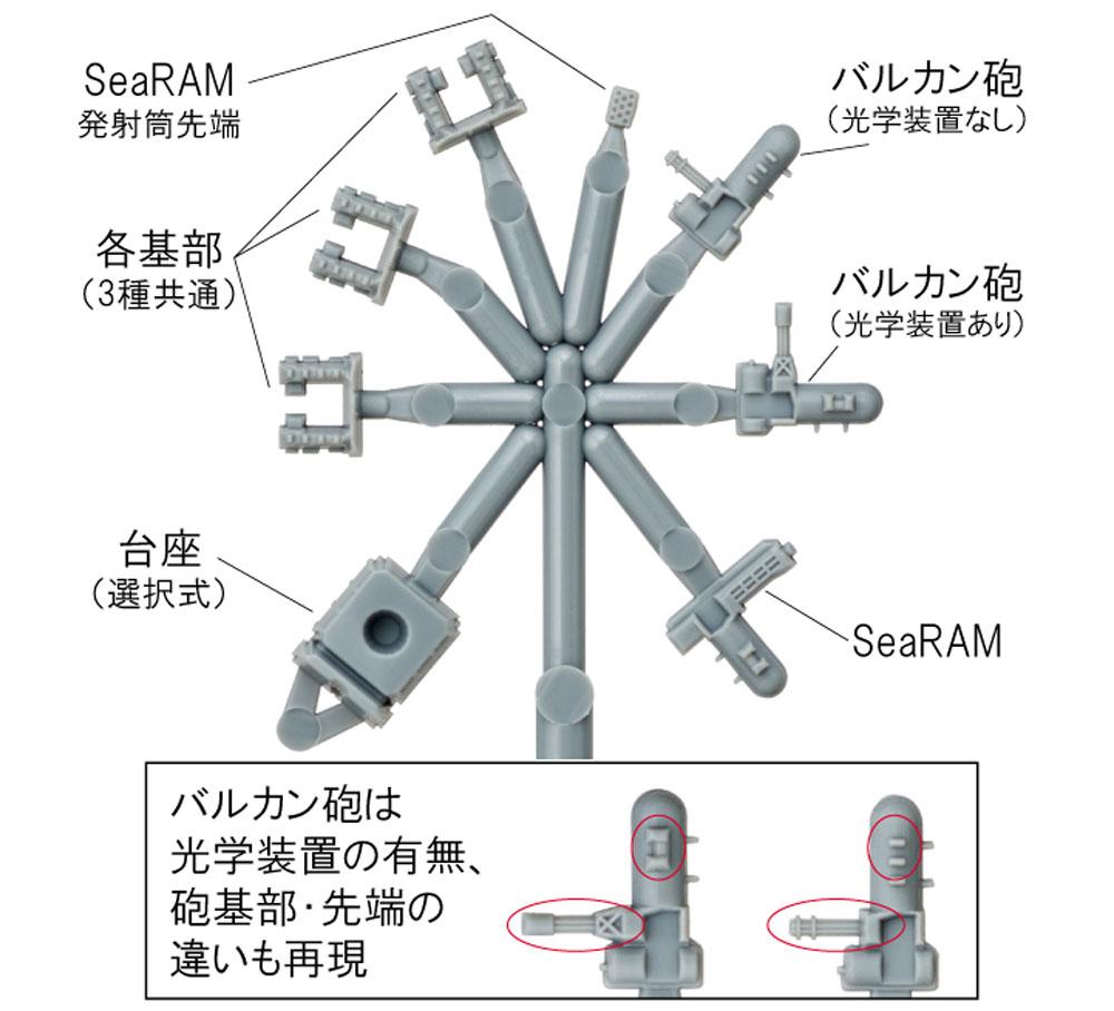 現用艦 近接防御火器システム (CIWS)プラモデル(ファインモールド1/700 ナノ・ドレッド シリーズNo.WA034)商品画像_2