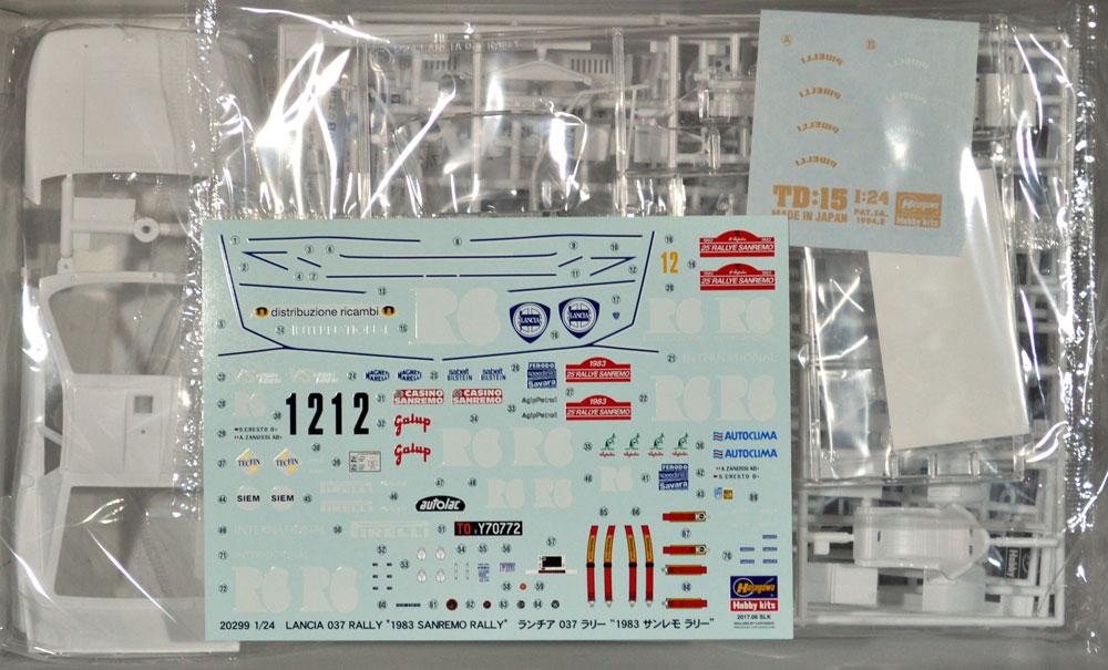 ランチア 037 ラリー 1983 サンレモ ラリープラモデル(ハセガワ1/24 自動車 限定生産No.20299)商品画像_1