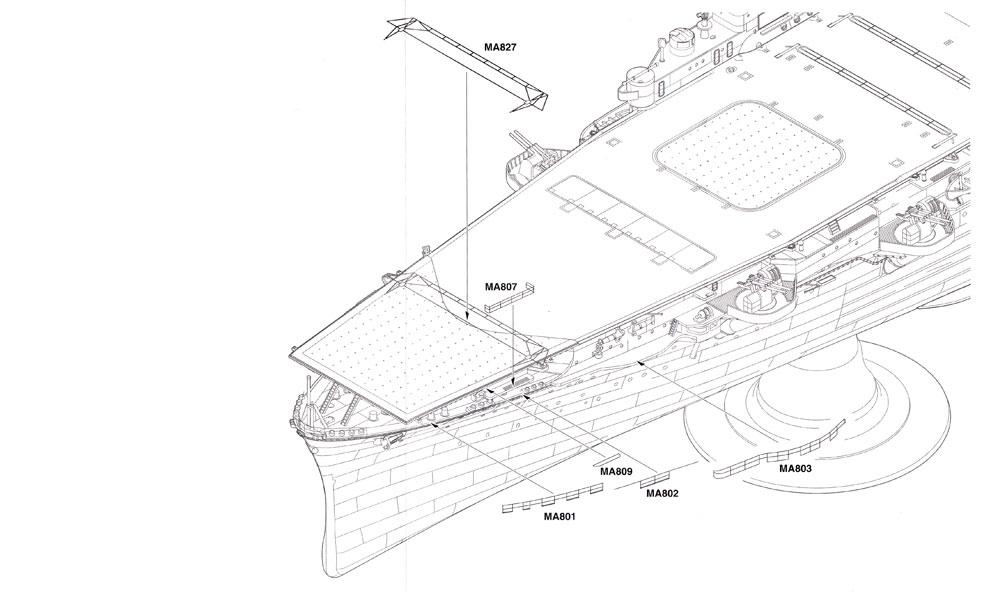 航空母艦 飛鷹 ディテールアップ エッチングパーツエッチング(ハセガワ1/350 QG帯シリーズNo.40097)商品画像_4