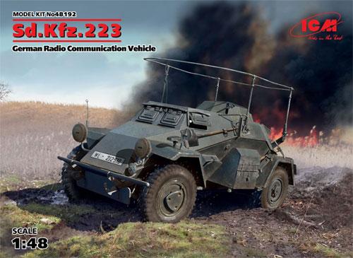 ドイツ Sd.Kfz.223 無線装甲車プラモデル(ICM1/48 ミリタリービークルNo.48192)商品画像