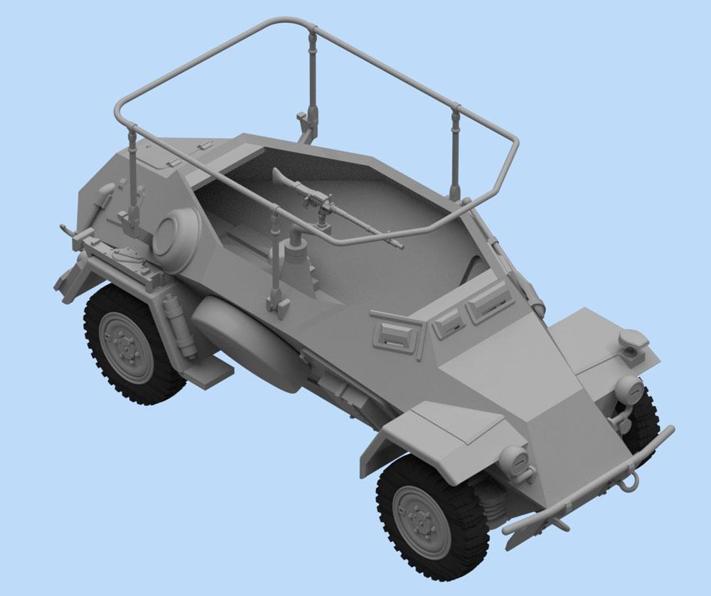 ドイツ Sd.Kfz.223 無線装甲車プラモデル(ICM1/48 ミリタリービークルNo.48192)商品画像_2