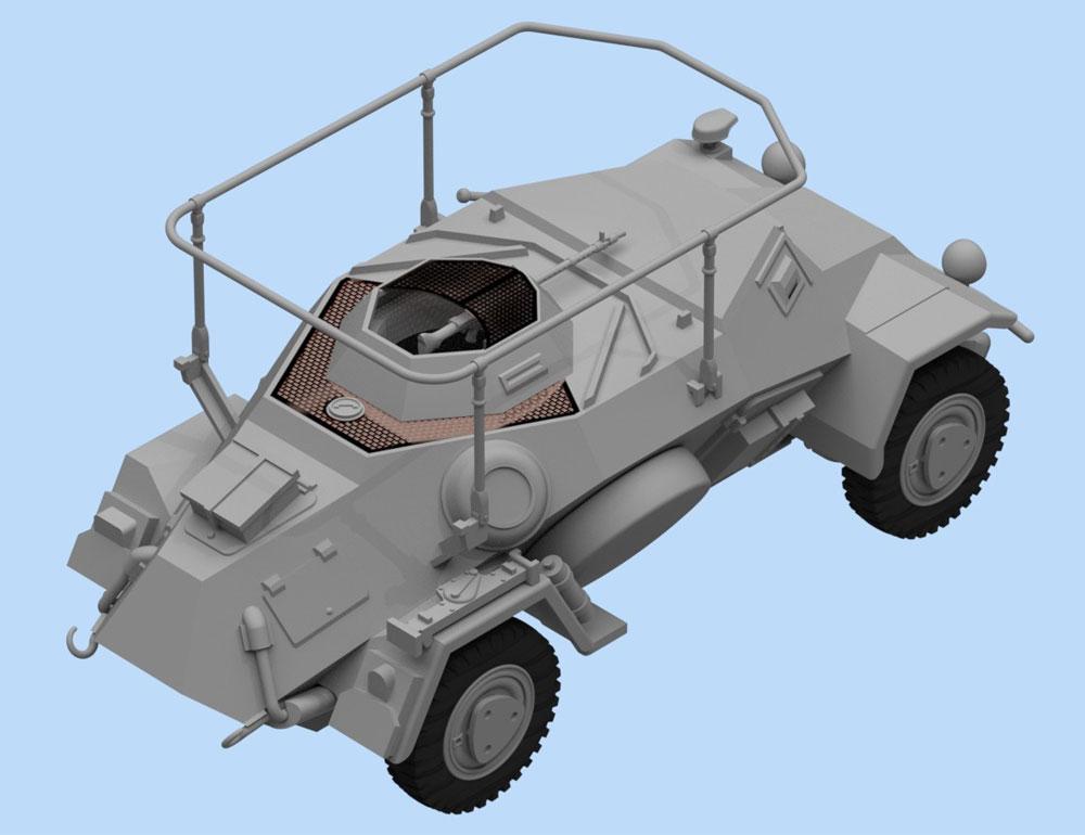 ドイツ Sd.Kfz.223 無線装甲車プラモデル(ICM1/48 ミリタリービークルNo.48192)商品画像_3