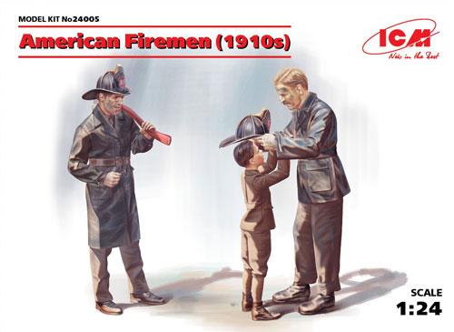 アメリカ消防士 (1910年)プラモデル(ICM1/24 フィギュアNo.24005)商品画像