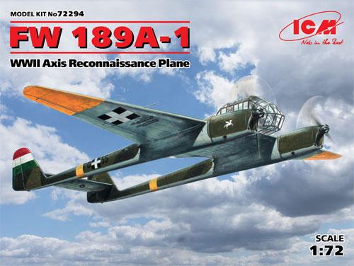 フォッケウルフ Fw189A-1 偵察機プラモデル(ICM1/72 エアクラフト プラモデルNo.72294)商品画像