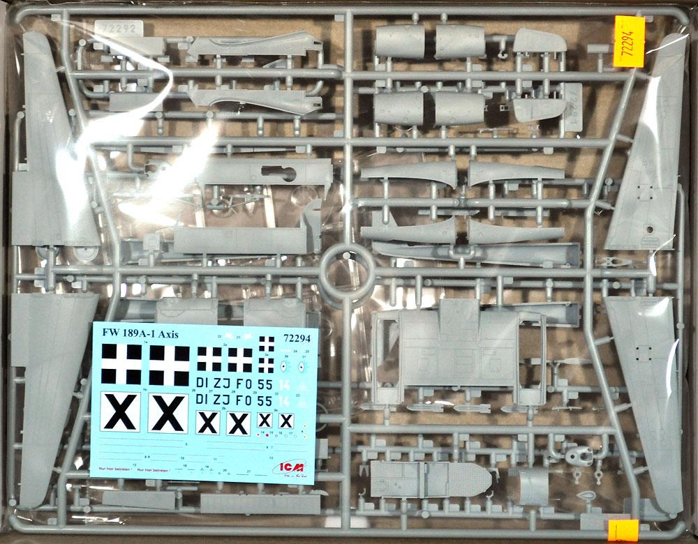 フォッケウルフ Fw189A-1 偵察機プラモデル(ICM1/72 エアクラフト プラモデルNo.72294)商品画像_1