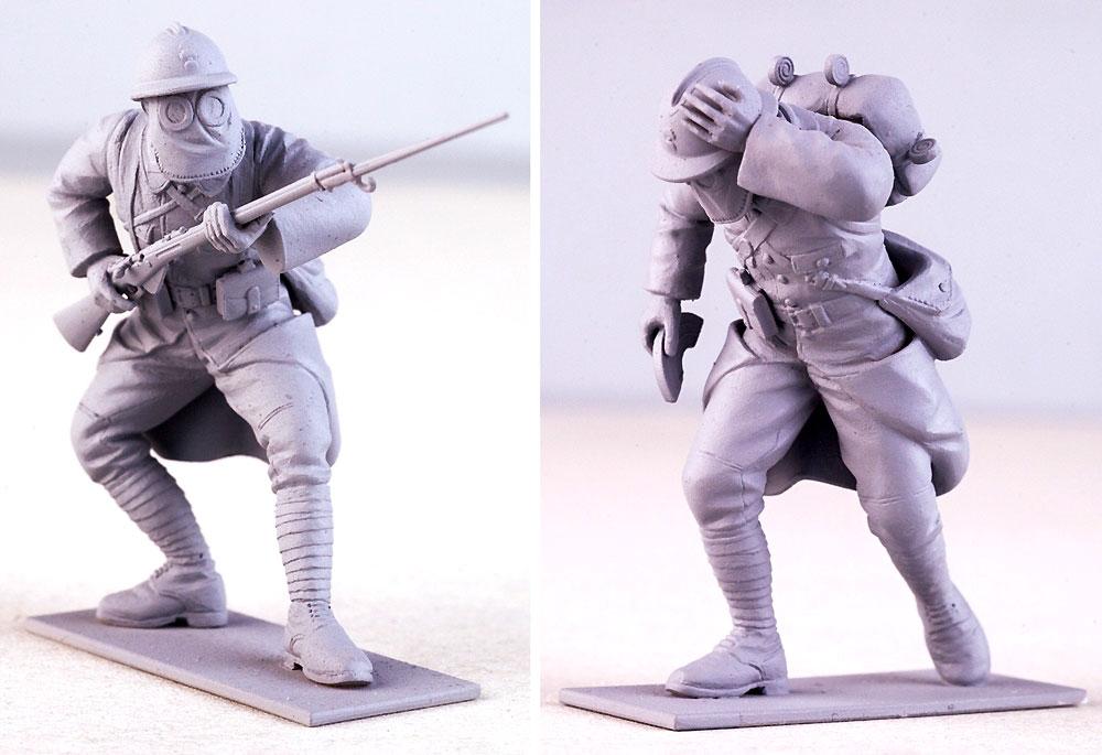 フランス歩兵 w/ガスマスク (1916年)プラモデル(ICM1/35 ミリタリービークル・フィギュアNo.35696)商品画像_3