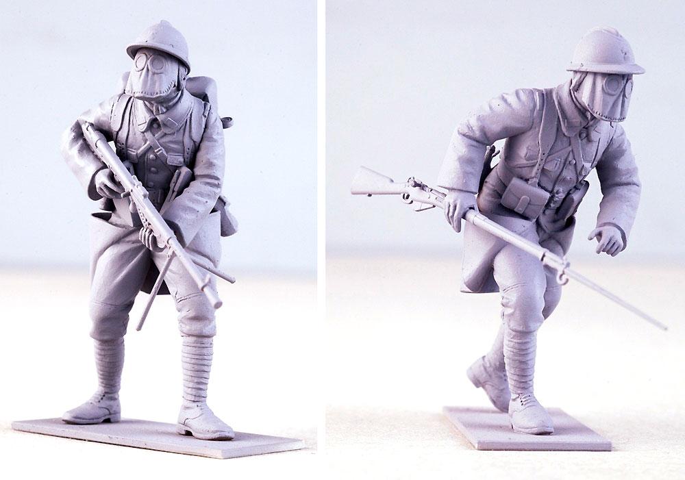 フランス歩兵 w/ガスマスク (1916年)プラモデル(ICM1/35 ミリタリービークル・フィギュアNo.35696)商品画像_4
