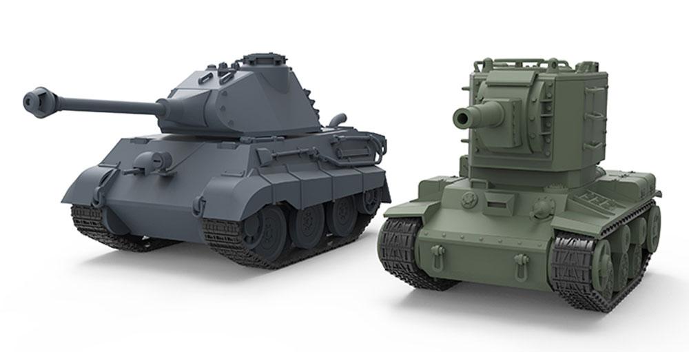 キングタイガー (ポルシェ砲塔) ドイツ重戦車プラモデル(MENG-MODELWORLD WAR TOONSNo.WWT-003)商品画像_2