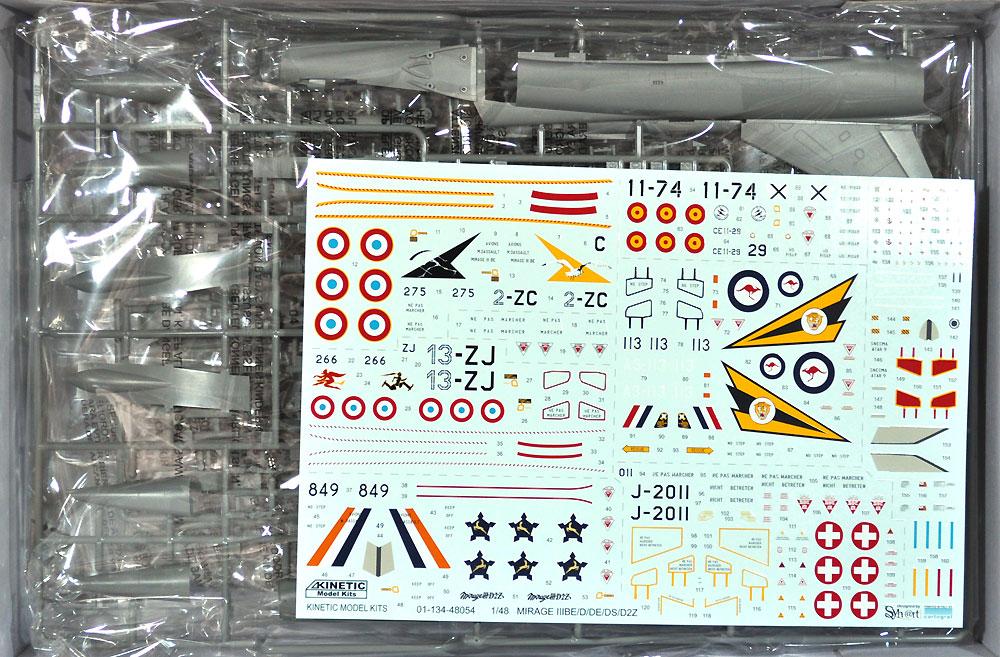 ミラージュ 3 BE/D/DE/DS/D2Z 複座練習機/攻撃機プラモデル(キネティック1/48 エアクラフト プラモデルNo.K48054)商品画像_1
