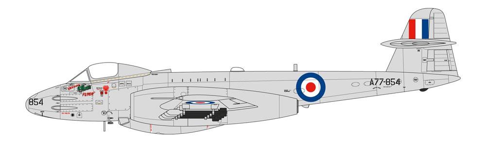 グロスター ミーティア F.8 朝鮮戦争プラモデル(エアフィックス1/48 ミリタリーエアクラフトNo.A09184)商品画像_2