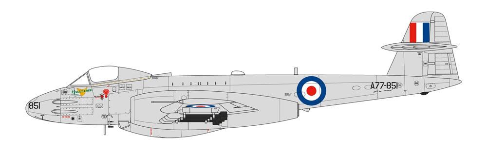 グロスター ミーティア F.8 朝鮮戦争プラモデル(エアフィックス1/48 ミリタリーエアクラフトNo.A09184)商品画像_3
