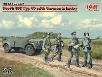 ドイツ 重統制型軍用車 ホルヒ 108 Typ40 w/ドイツ歩兵