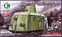 ユニモデル1/72 AFVキットロシア DTR 装甲列車 重機関銃搭載 ポドスルキ工場型