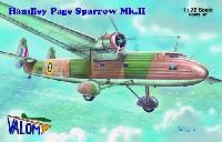 バロムモデル1/72 エアクラフト プラモデルハンドレページ スパロー Mk.2