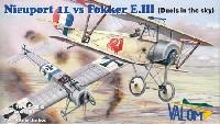 ニューポール 11 vs フォッカー E.3 アインデッカー