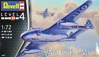 レベル1/72 飛行機ヴァンパイア F Mk.3
