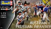 レベル1/72 ミリタリー七年戦争 オーストリア & プロイセン歩兵
