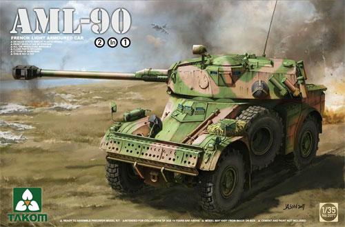 フランス 軽装甲車 AML-90プラモデル(タコム1/35 ミリタリーNo.2077)商品画像