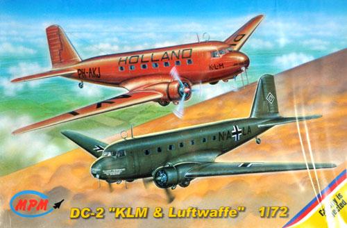 ダグラス DC-2 双発旅客機 KLM航空 & ドイツ空軍プラモデル(MPM1/72 エアクラフト プラモデルNo.72515)商品画像