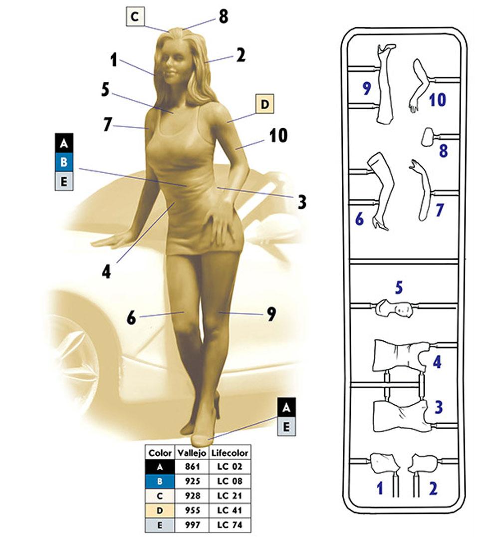 スローン - ベガスベイビー (デンジャラスカーブス シリーズ)プラモデル(マスターボックスピンナップ (Pin-up)No.MB24020)商品画像_1