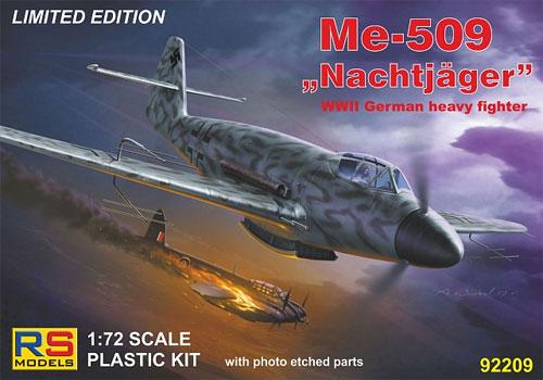 メッサーシュミット Me509 ナハトイェガープラモデル(RSモデル1/72 エアクラフト プラモデルNo.92209)商品画像