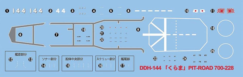 海上自衛隊 護衛艦 DDH-144 くらまプラモデル(ピットロード1/700 スカイウェーブ J シリーズNo.J-077)商品画像_2