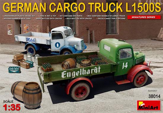 ドイツ カーゴトラック L1500S (飲料会社仕様)プラモデル(ミニアート1/35 ミニチュアシリーズNo.38014)商品画像