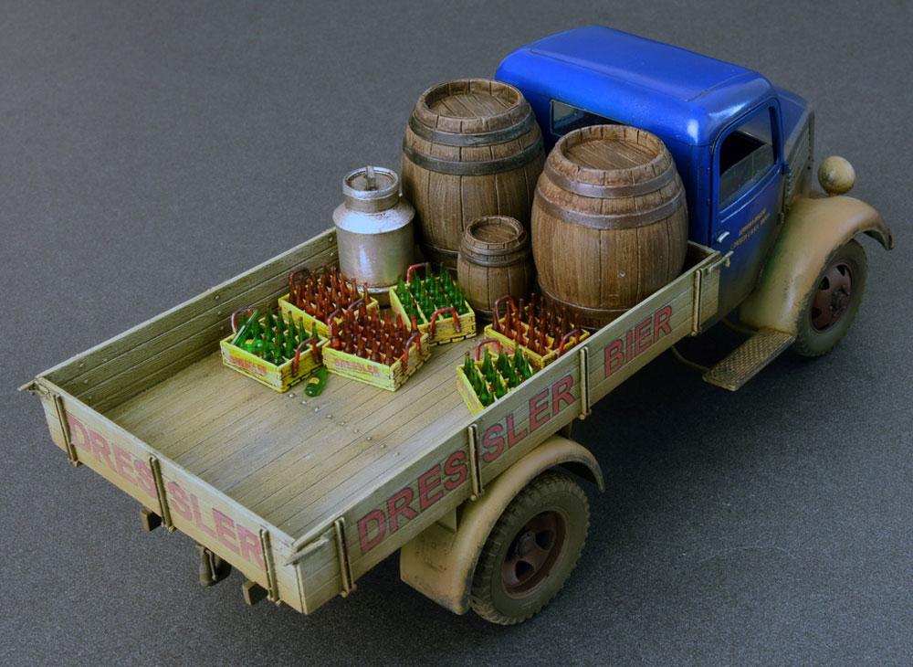 ドイツ カーゴトラック L1500S (飲料会社仕様)プラモデル(ミニアート1/35 ミニチュアシリーズNo.38014)商品画像_2