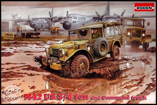 ダッジ M42 3/4t 4×4 コマンドトラックプラモデル(ローデン1/35 AFV MODEL KITNo.809)商品画像