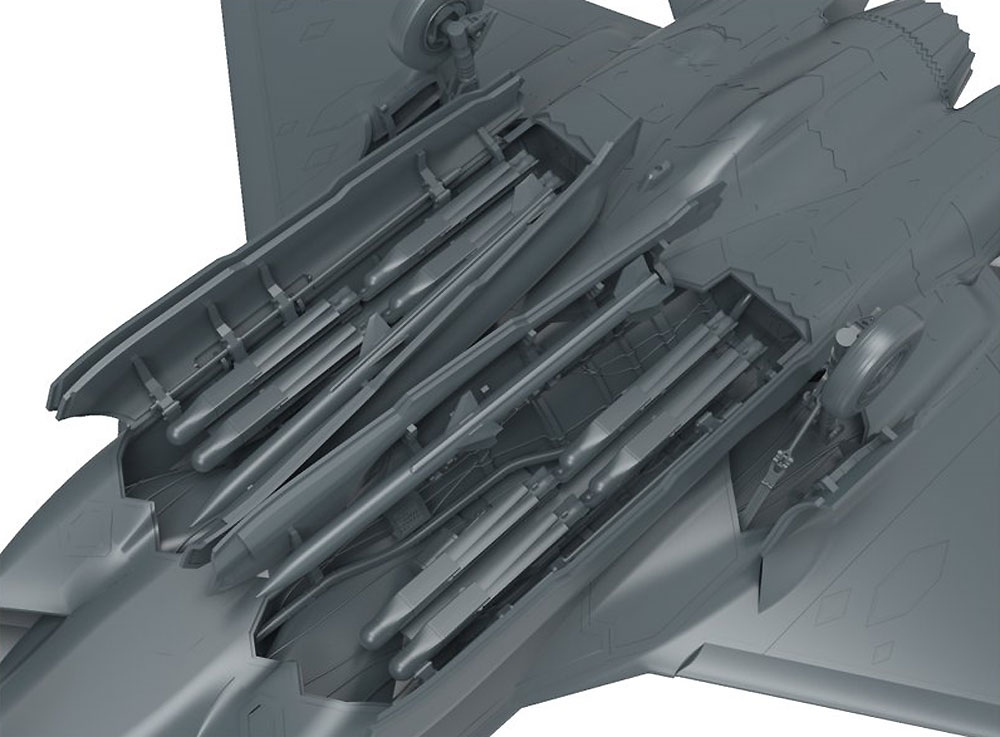 F-35A ライトニング 2 戦闘機 航空自衛隊プラモデル(MENG-MODELロンギセプス シリーズNo.LS-008)商品画像_3