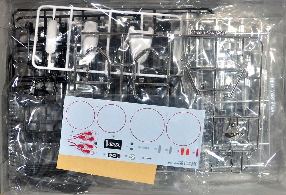 ヤマハ Vmax カスタムパーツ付きプラモデル(アオシマ1/12 バイクNo.047)商品画像_1